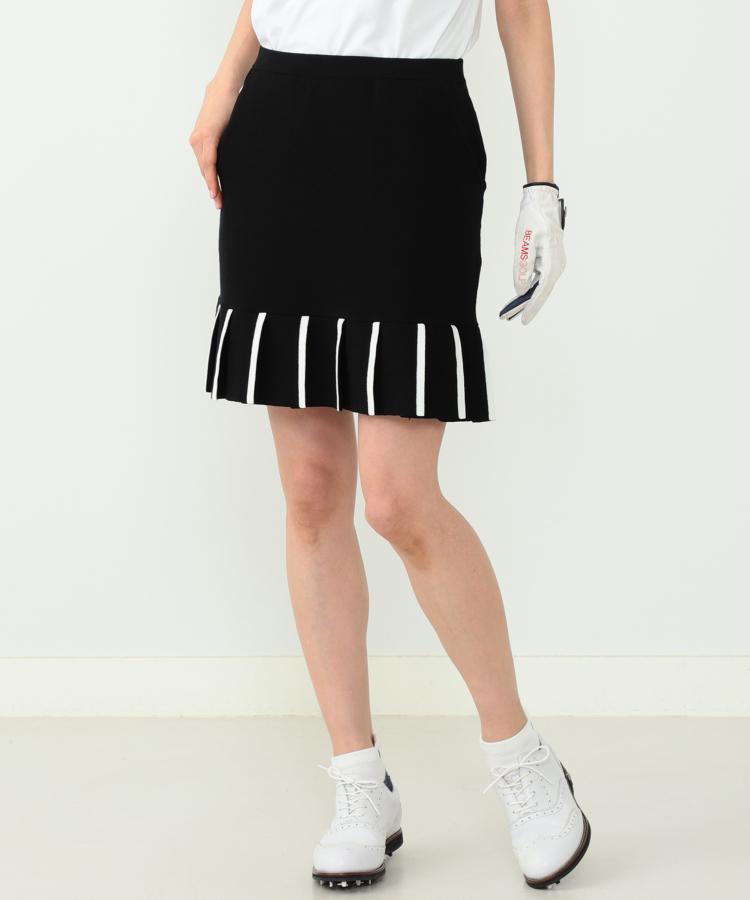 BE 裾プリーツ♪ニットスカート