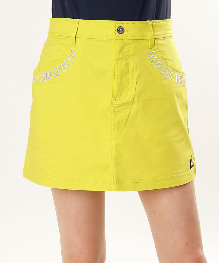 LQ フルーツ刺繍★スラブツイルスカート