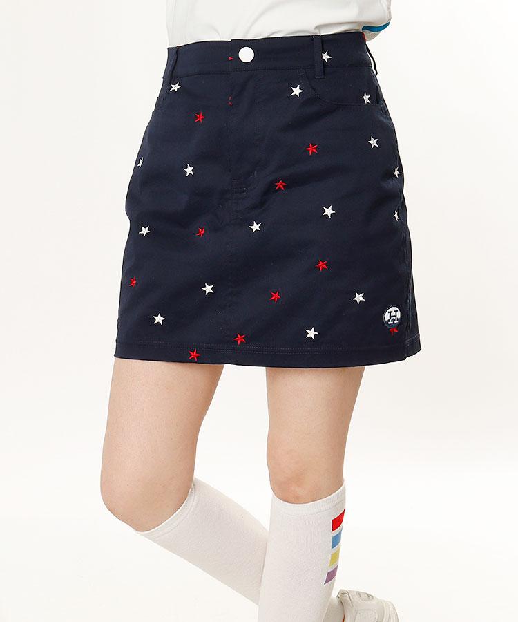 HO STAR刺繍♪総柄スカート