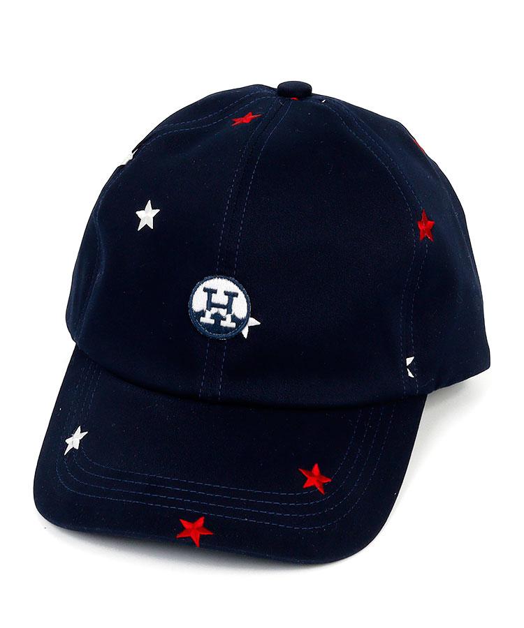 HO Starドット刺繍キャップ