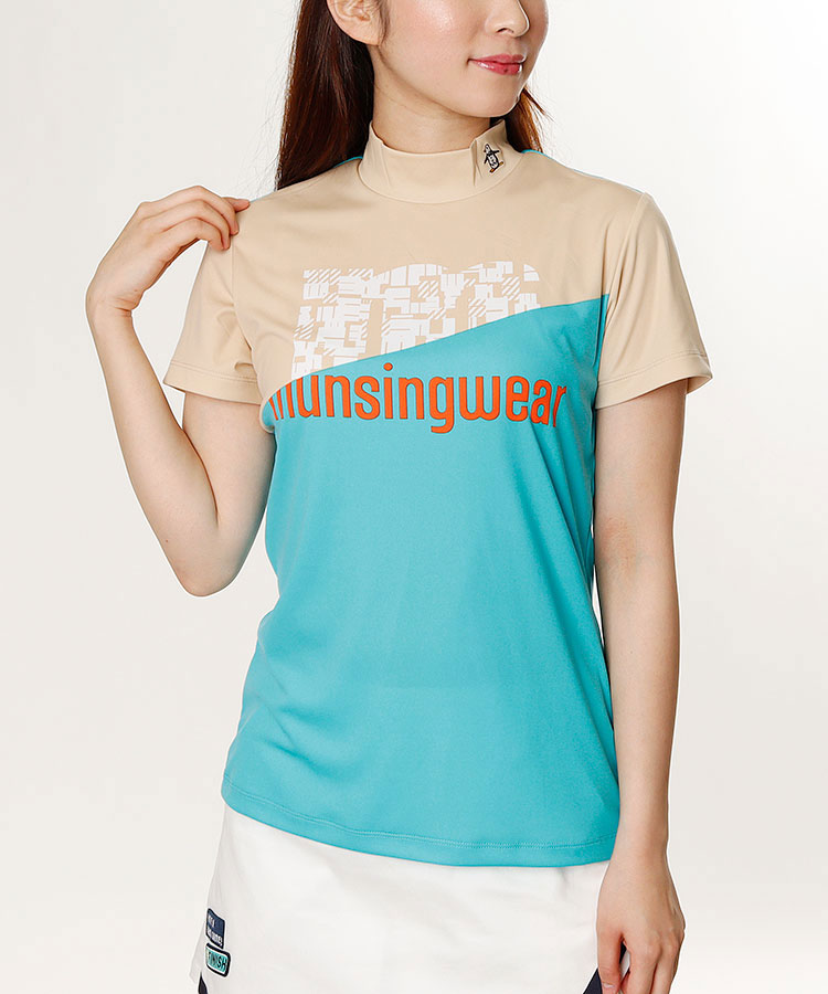 MW SunScreen◆パネルロゴ半袖カットソー