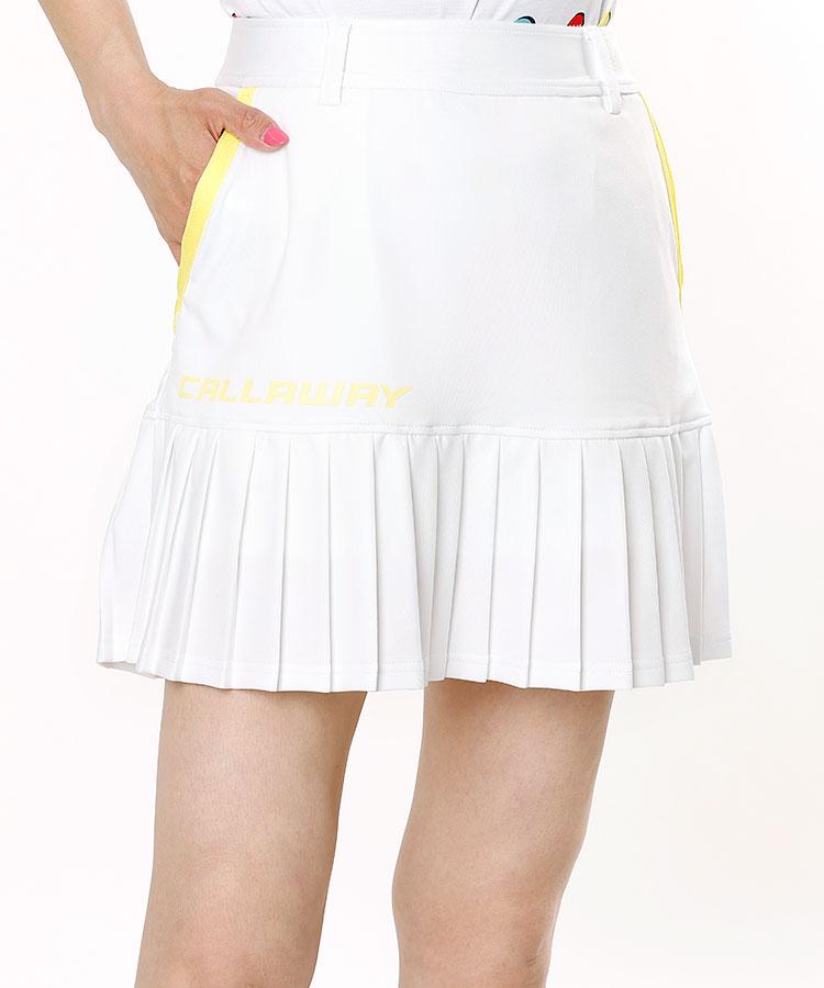 CA 裾プリーツ♪Stretchジャージースカート