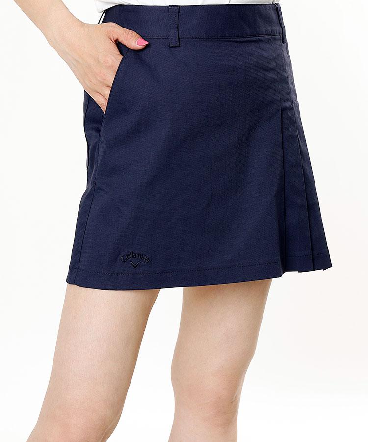 CA アシメプリーツ◆ストレッチBOXスカート