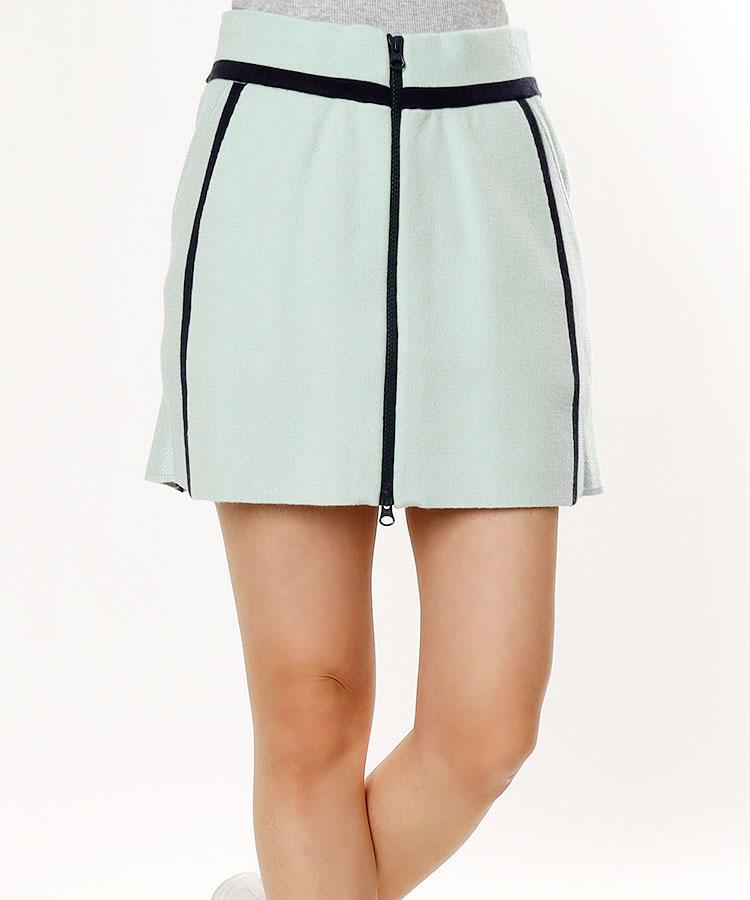 SD 微起毛◆ジップアップニットスカート