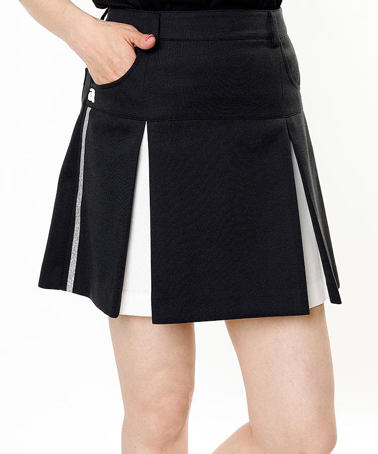 AR ラメライン◆プリーツスカート