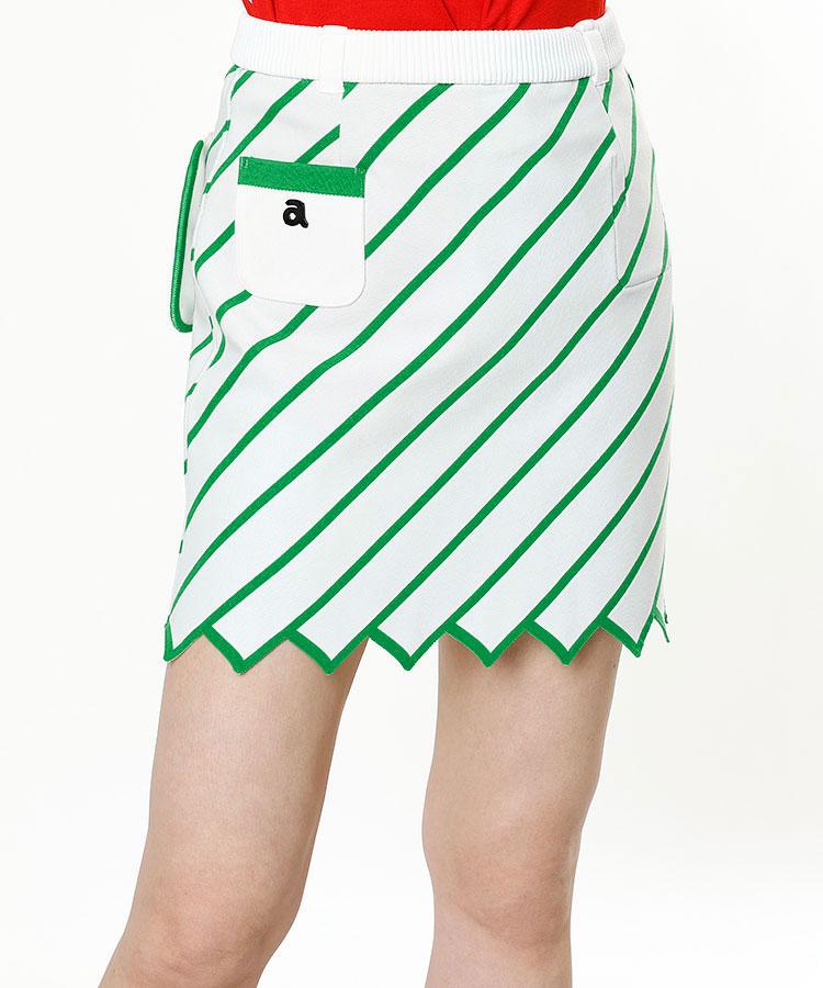 AR バイヤスBorder★リバーシブルニットスカート