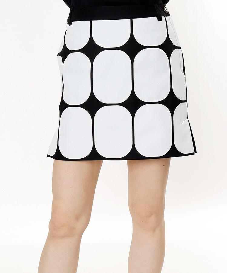 AR 幾何学Print★アシメスカート