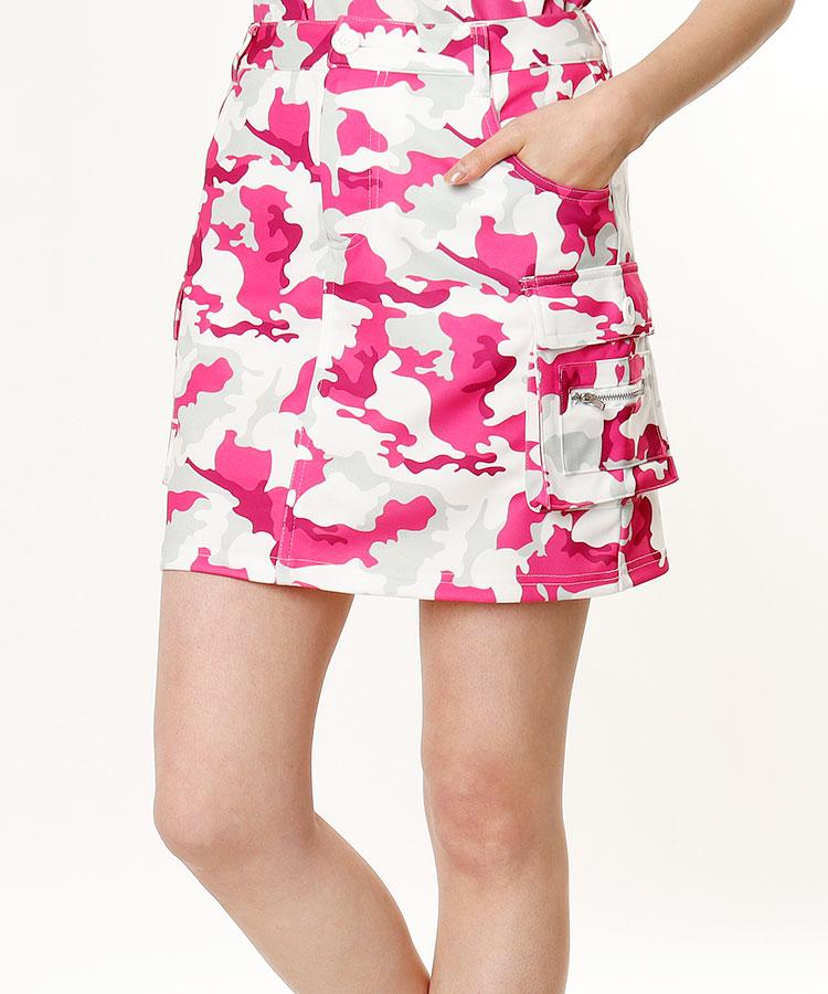 DL カモフラ柄カーゴスカート