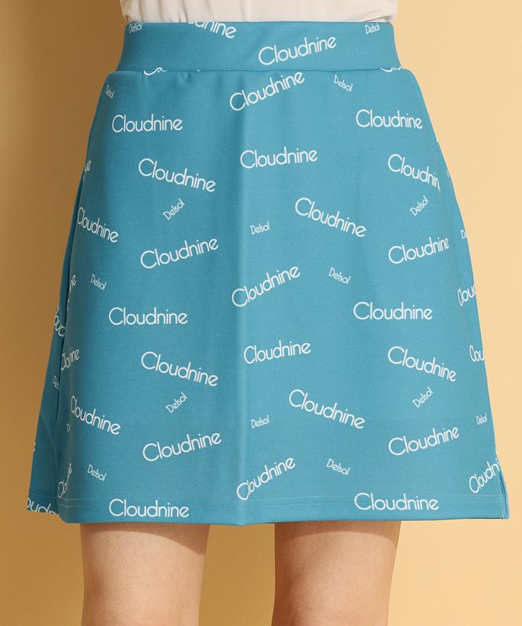 DL ランダムロゴPrint♪インナー付きスカート