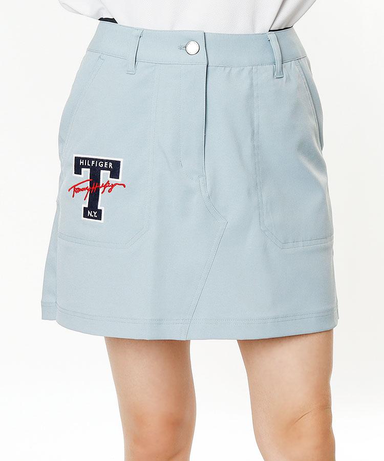 TH Back裾プリーツ♪ストレッチスカート