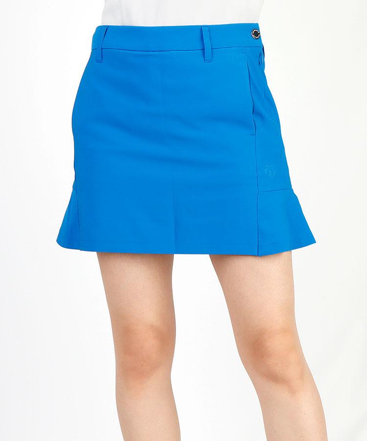 DE BACK裾フレア◆ぺチパンツ付きスカート