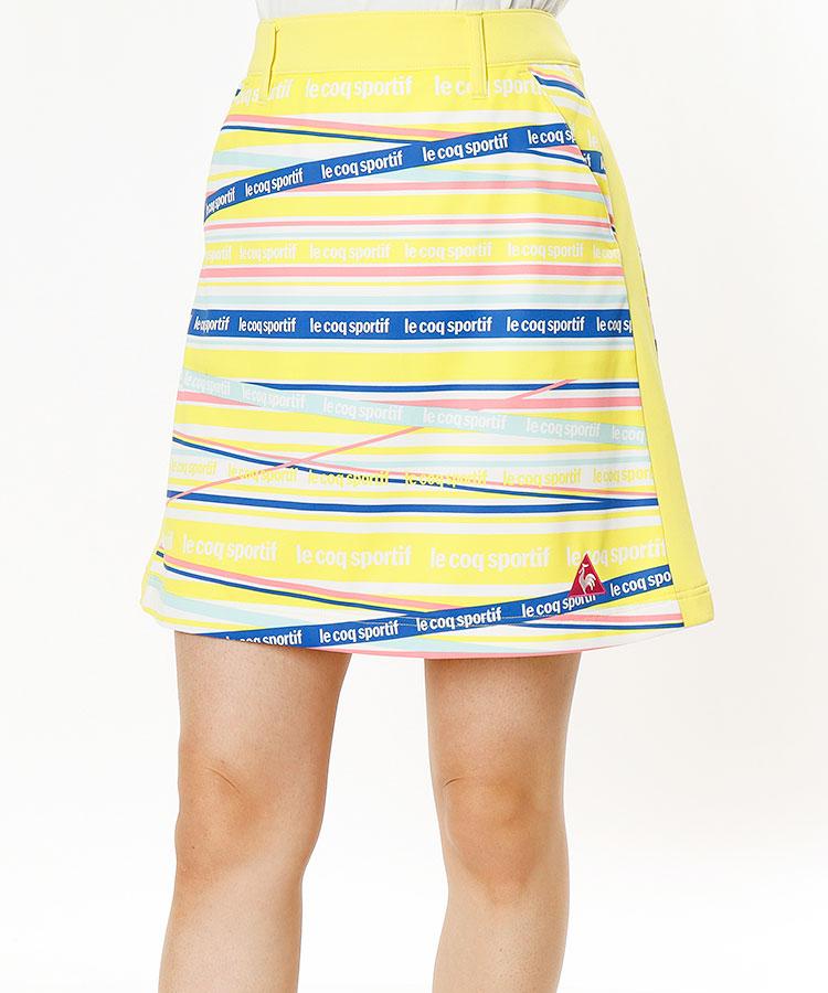 LQ ロゴボーダー◆SIDEラインスカート