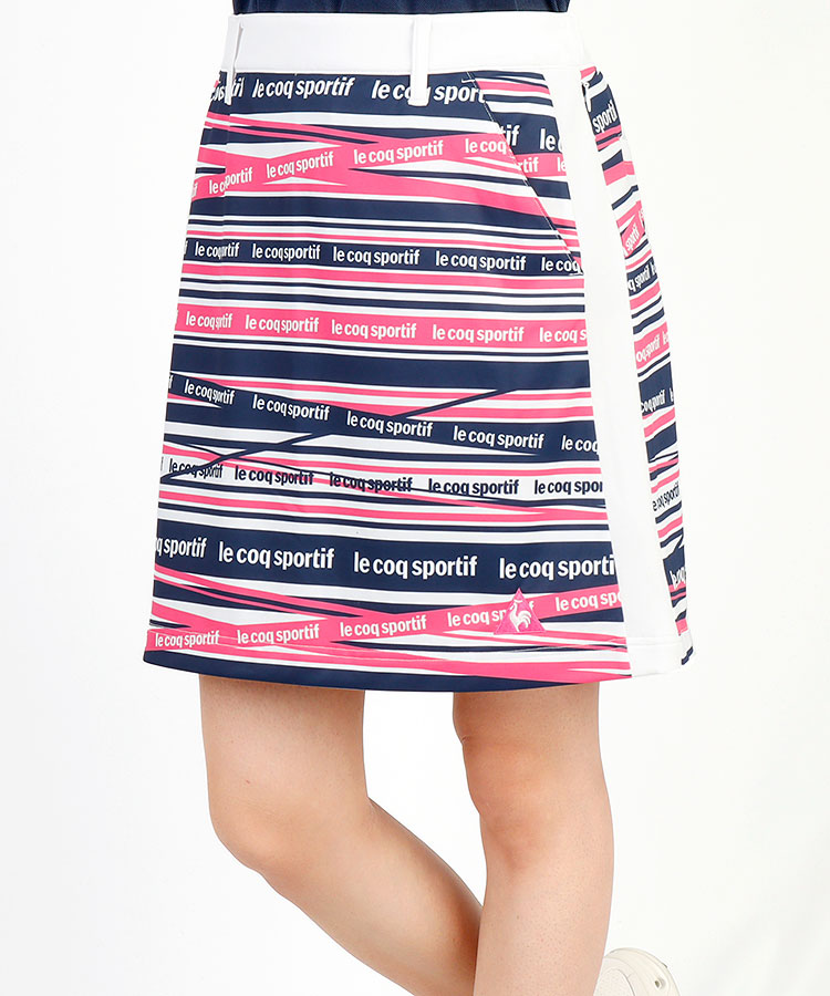 LQ 【シーブリーズプレゼント中】ロゴボーダー◆SIDEラインスカート