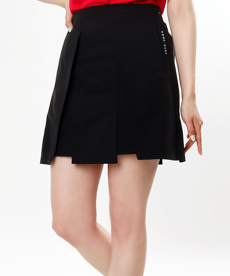 RD プリーツ風切替◆インナー付きスカート