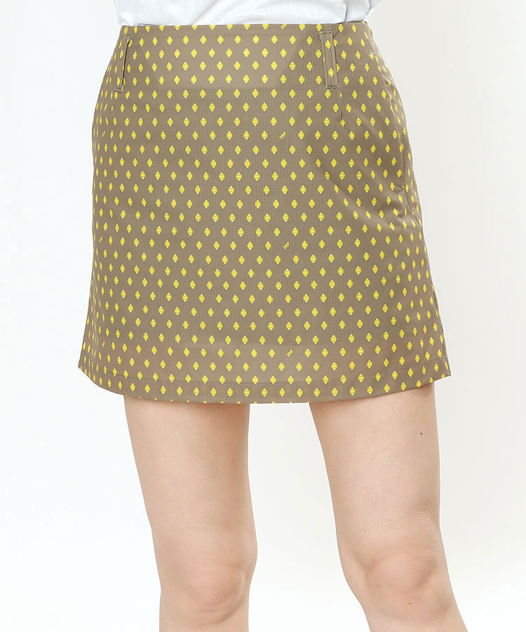 JR 小紋ドットPrint♪インナーパンツ付きスカート