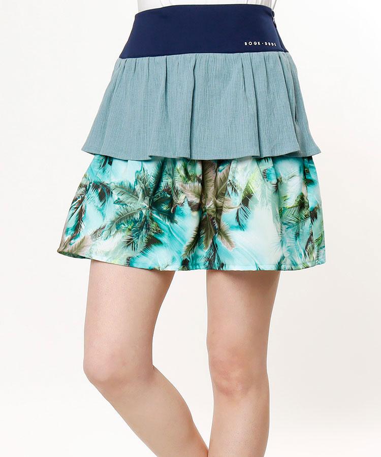 RD レイヤード風♪リゾート柄スカート