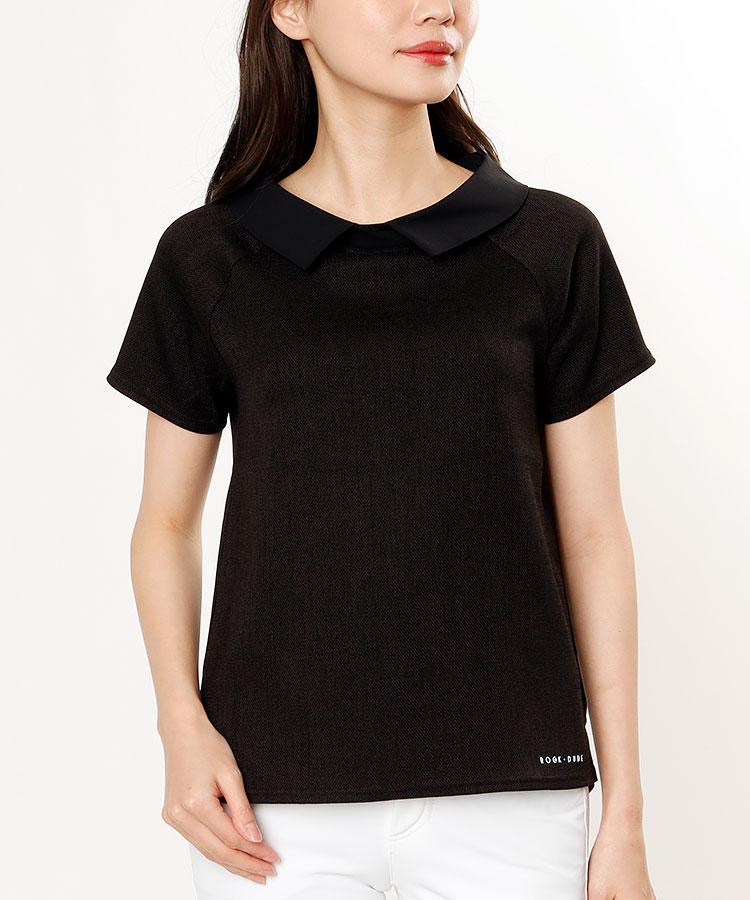 RD リネン風◆プルオーバー半袖シャツ