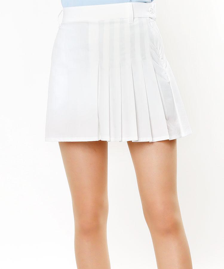VH サイドプリーツ◆ペチパンツ付きスカート