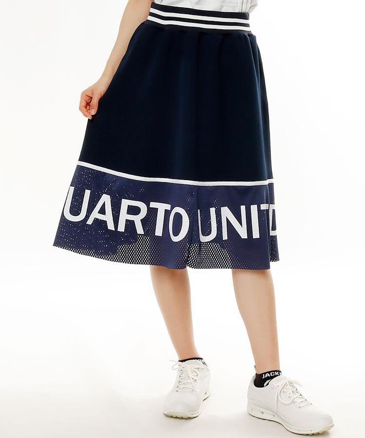 CU 裾ロゴメッシュ★ミモレスカート