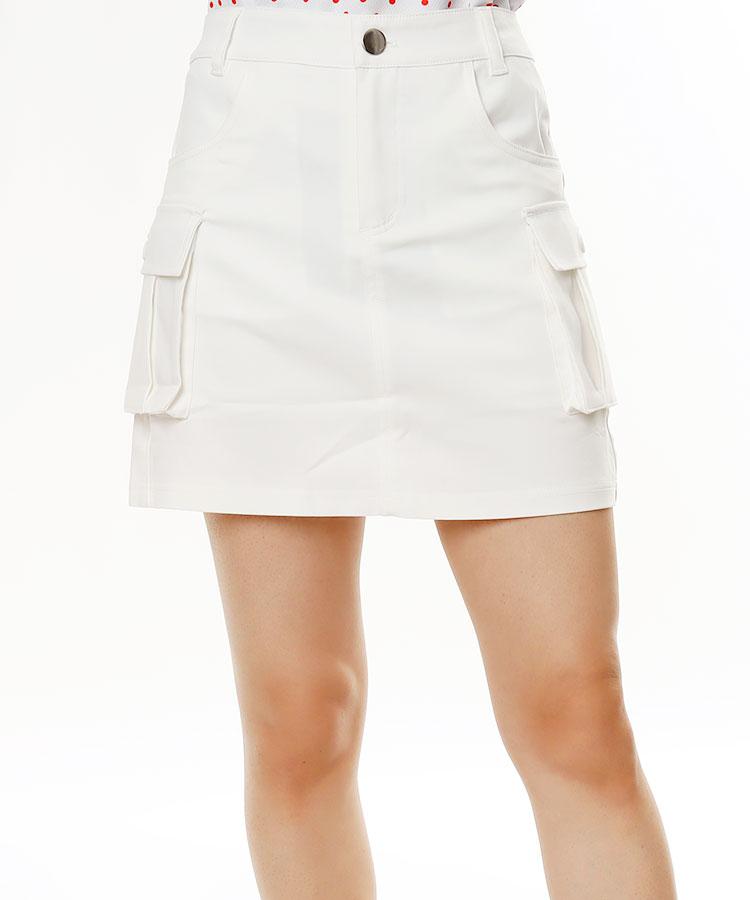 EF 一体型ペチパンツ付き★simpleカーゴスカート