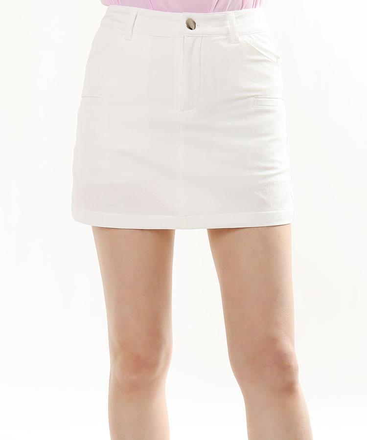 EF 一体型ペチパンツ付き◆simpleナイロンスカート