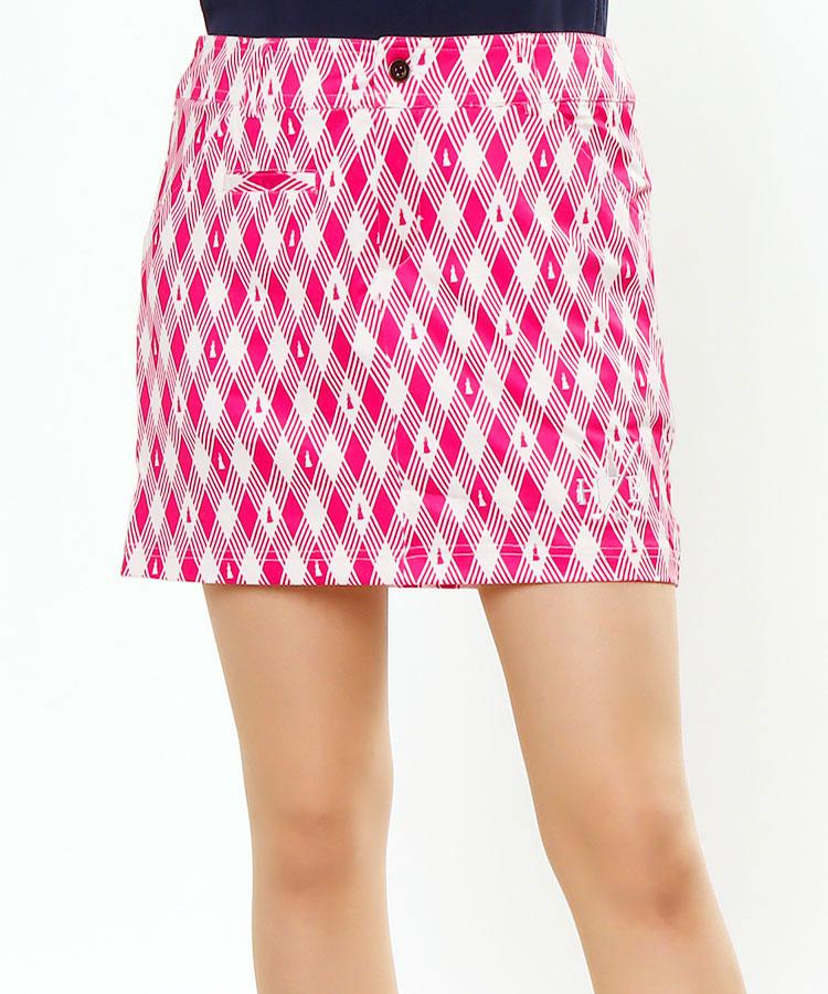 HB うさぎチェック柄★ペチパンツ一体型スカート