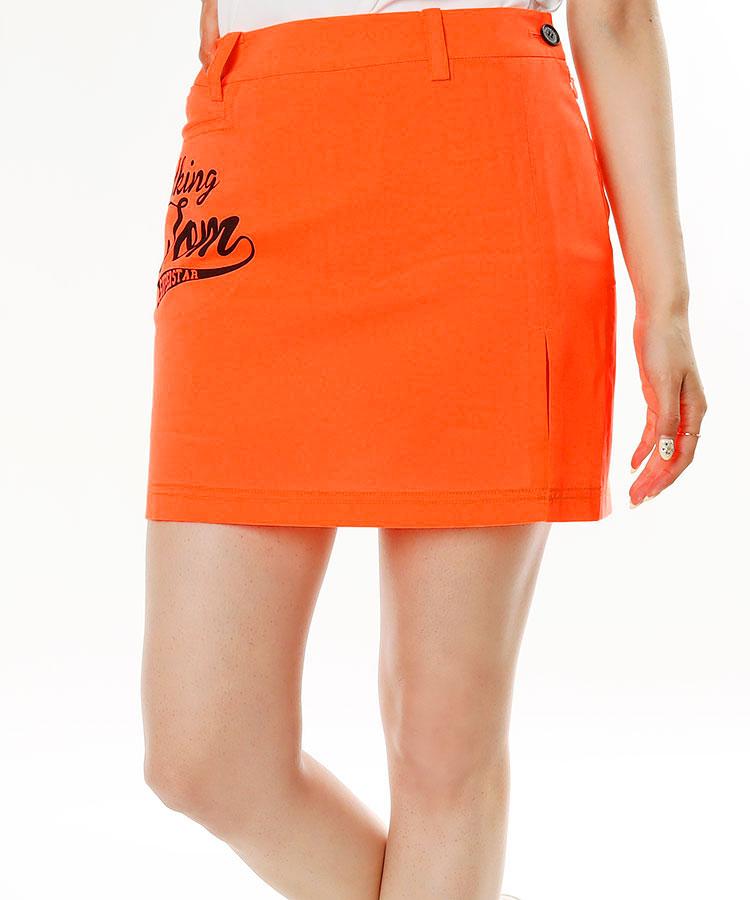 TT ロゴPrint★サイドスリット一体型ペチ付きスカート