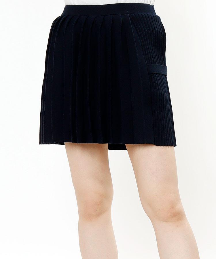 SD アシメデザイン◆プリーツニットスカート