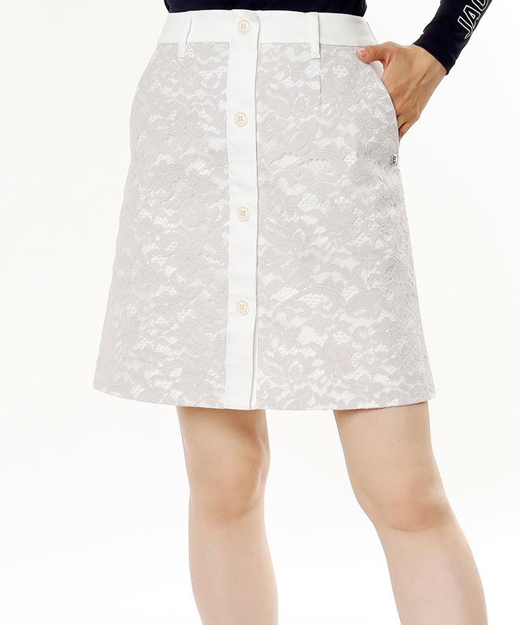 SA ボタンデザイン♪レースツイルスカート