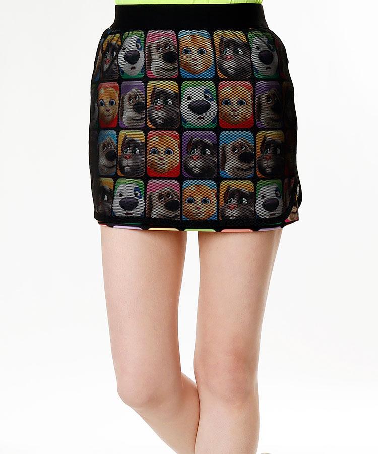 TT キャラBlock◆ペチ付きスカート