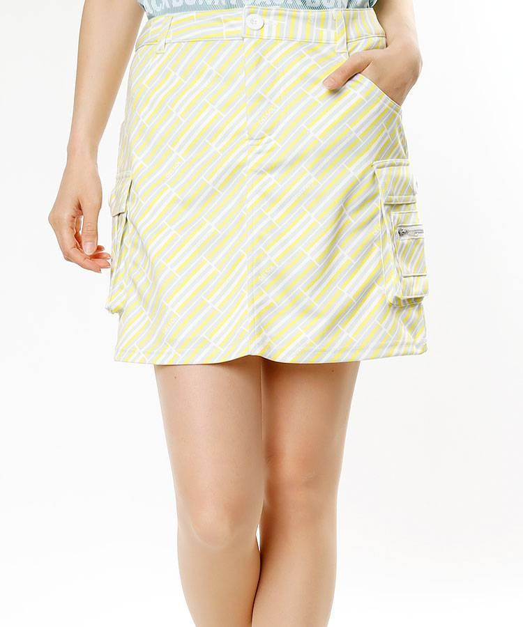 DL バイヤスBorder★インナー付きカーゴスカート