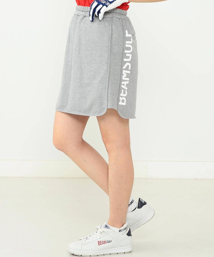 BE SIDEロゴ◆スウェット風スカート