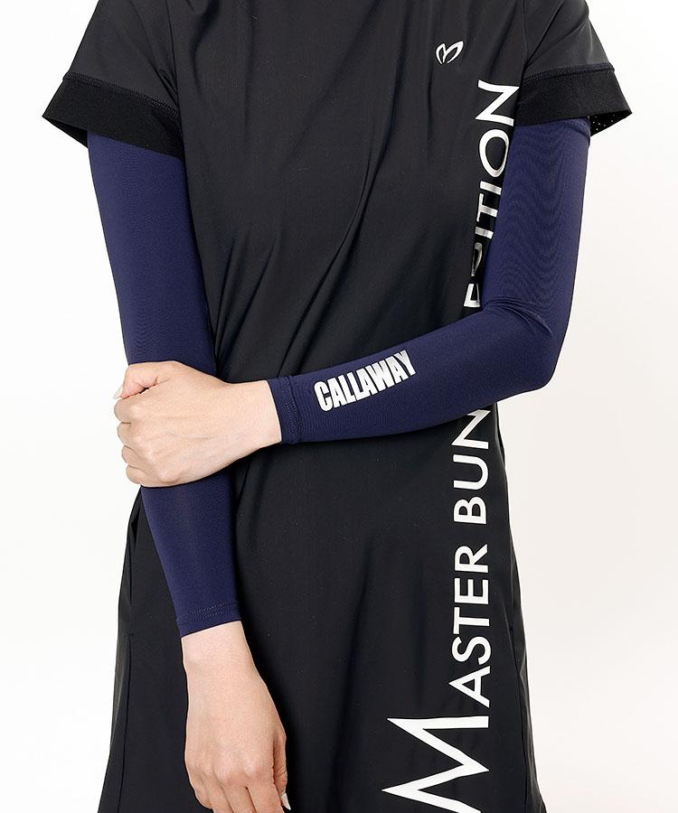 CA 接触冷感★アシメロゴUVアームカバー