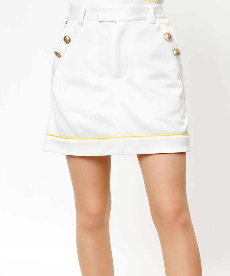 ML Frontダブルボタン★パイピングスカート