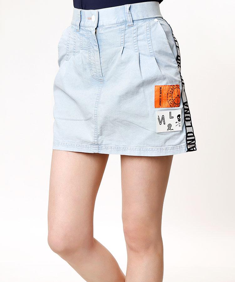 ML ケミカルウォッシュ◆サイドロゴスカート