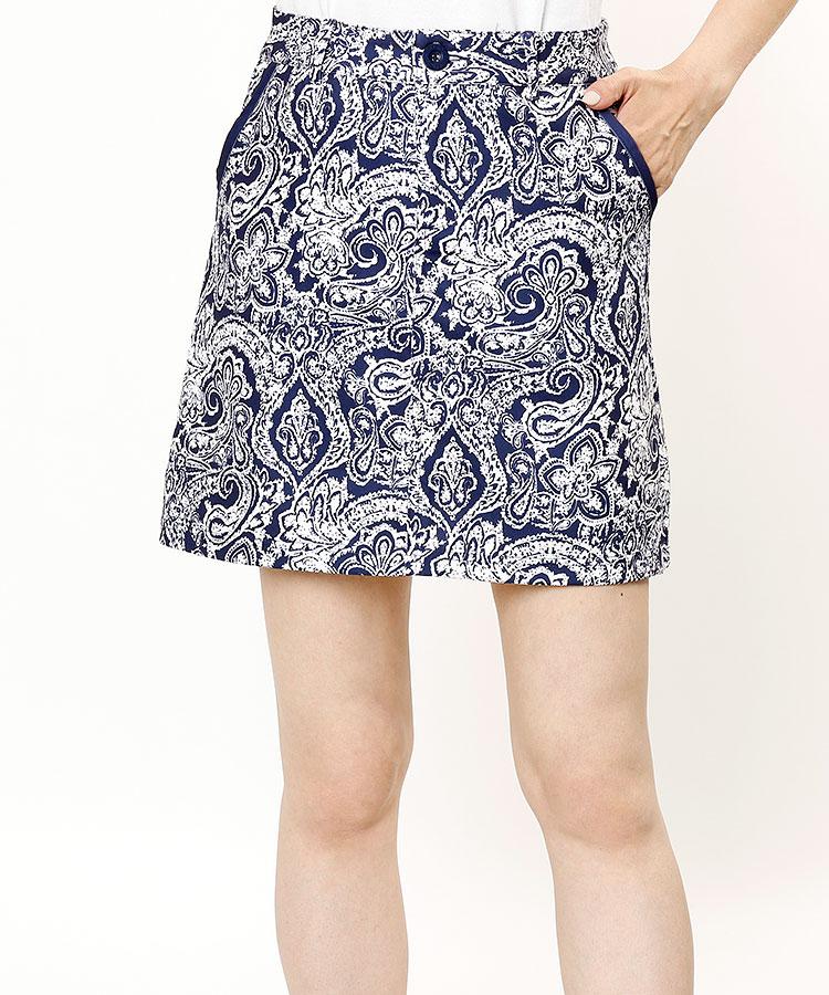 DL ペイズリー柄♪インナー付きスカート