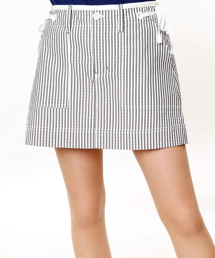 JB 立体構造★リボン付きサッカーStripeスカート