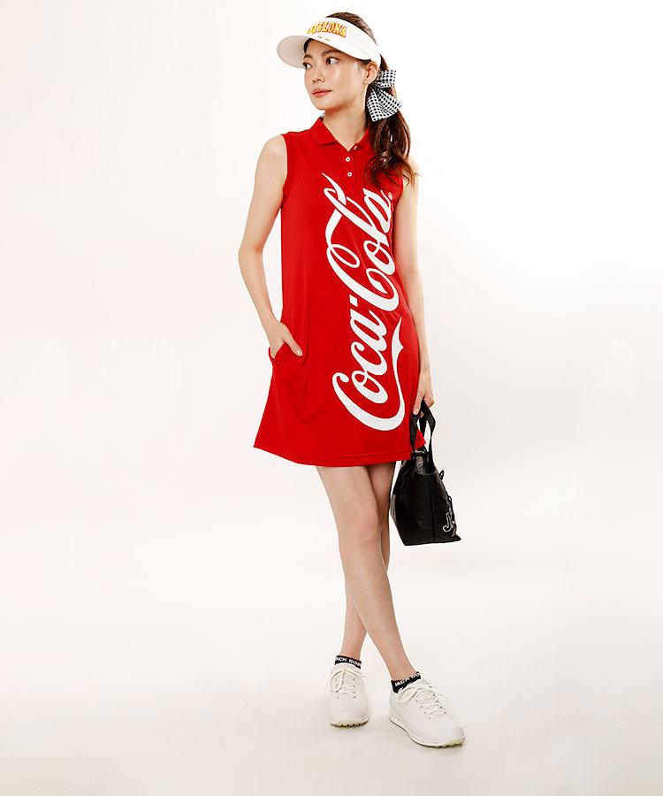JB CocaColaBigロゴ★ノースリーブワンピ