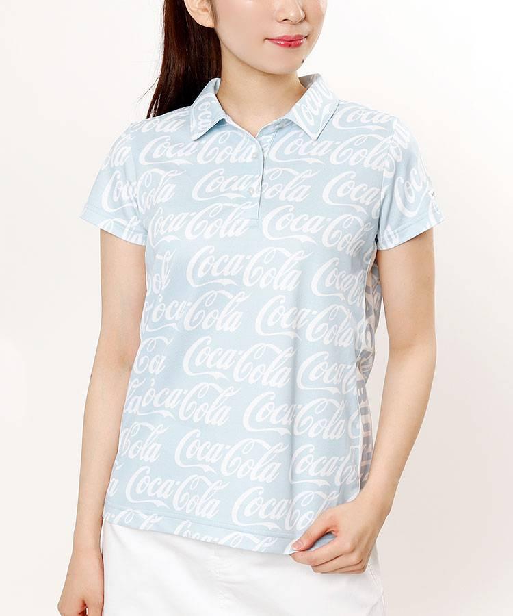 JB CocaColaロゴ総柄★半袖ポロ