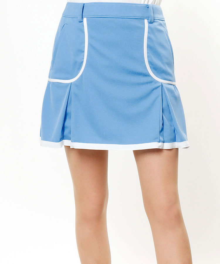 AR 吸水速乾★LINEプリーツスカート