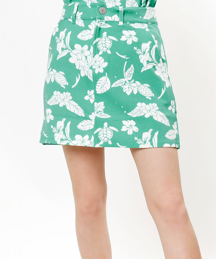 CU 選べるカラー★リゾート柄スカート