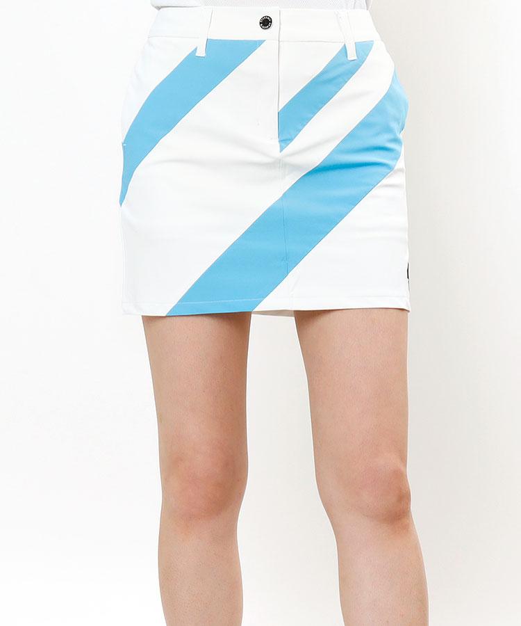 DE 汚れが落ちやすい★バイヤスStripeスカート