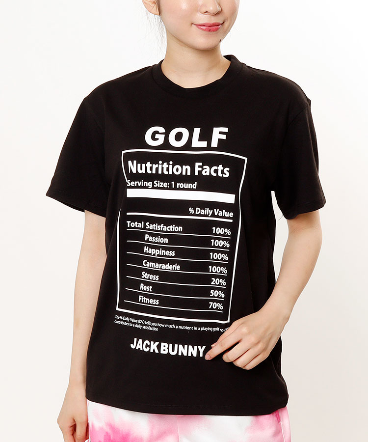 JB NutritionFactsプリント◆半袖カットソー