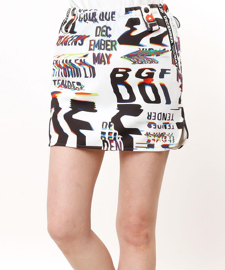 DM ペチパンツ付き♪グラフィック調スカート