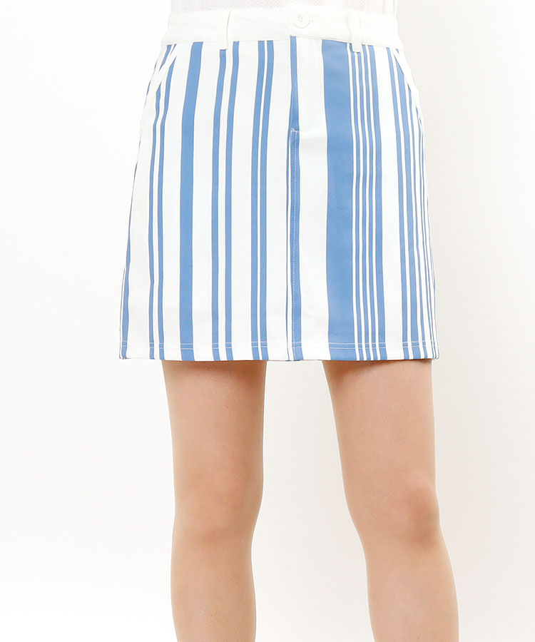 DL ペチ一体型★ストライプスカート
