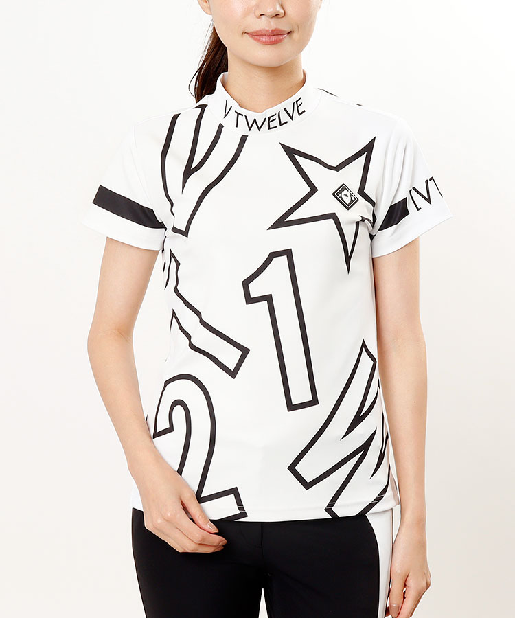 VI デザインロゴ◆半袖カットソー