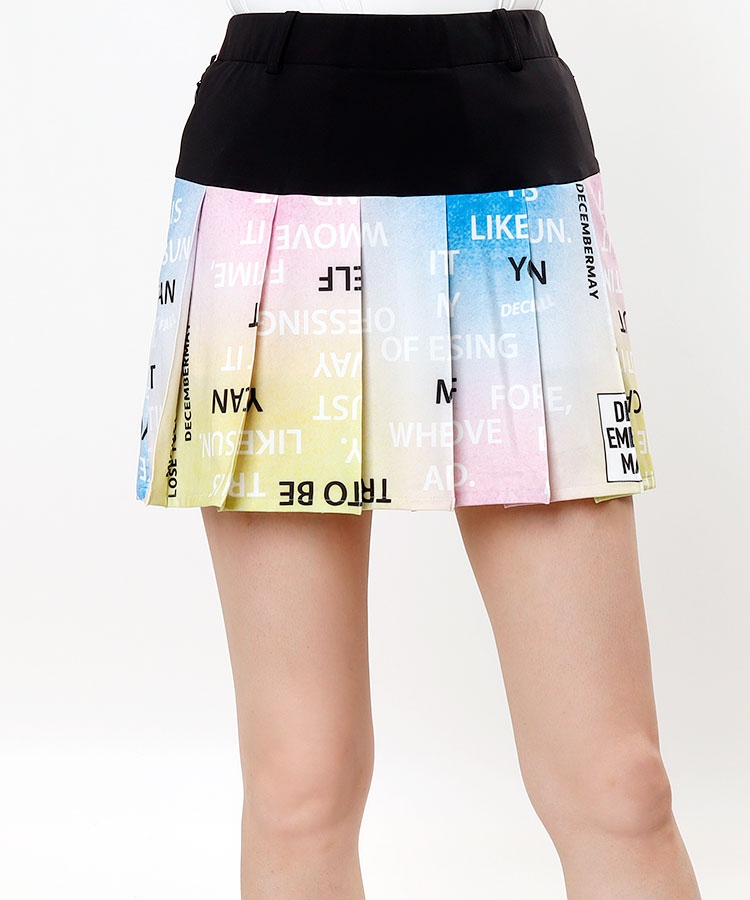 DM グラデーションカラー★切替プリーツスカート