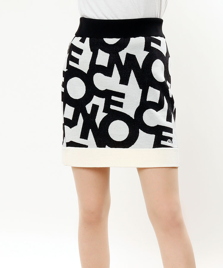 HO 総柄ロゴ★ニットスカート