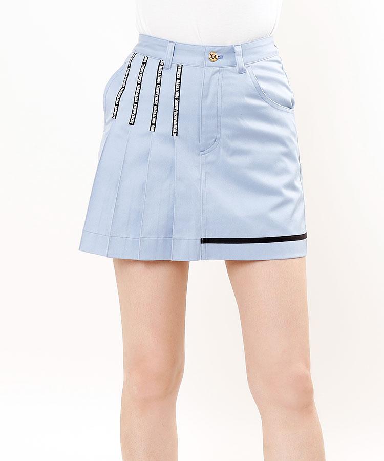 ML [RICH&FAMOUS]BACKふわふわ★部分プリーツスカート