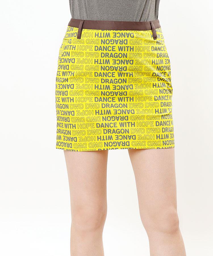 DD ロゴ総柄★台形スカート